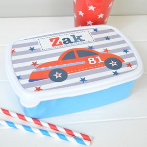 Boy's Personalised Lunch Box Various Designs
