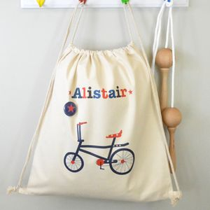 Boy's Personalised Kit Bag Various Designs