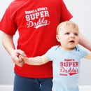 Personalised Super Daddy Bodysuit Set