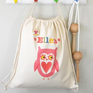 Girl's Personalised Nursery Bag Various Designs - under £25