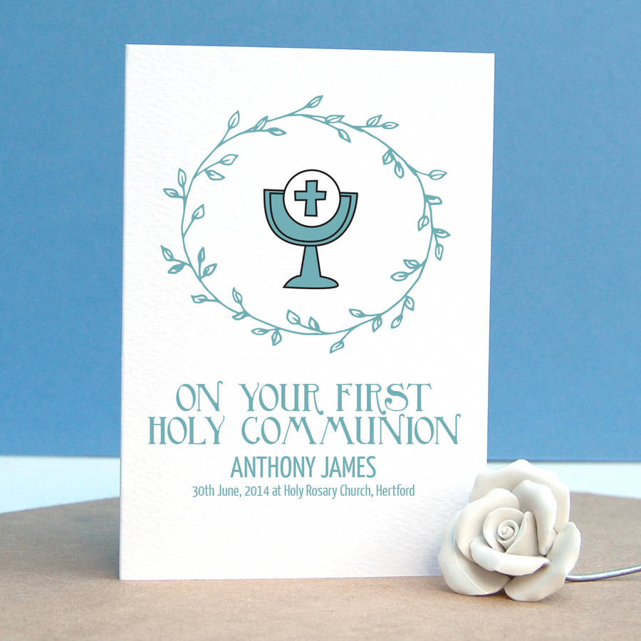 First Holy Communion Personalised Card By Afewhometruths
