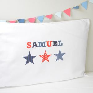 Boys Personalised Pillowcase - children's room