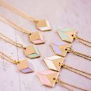 Enamel And Gold Geometric Necklace
