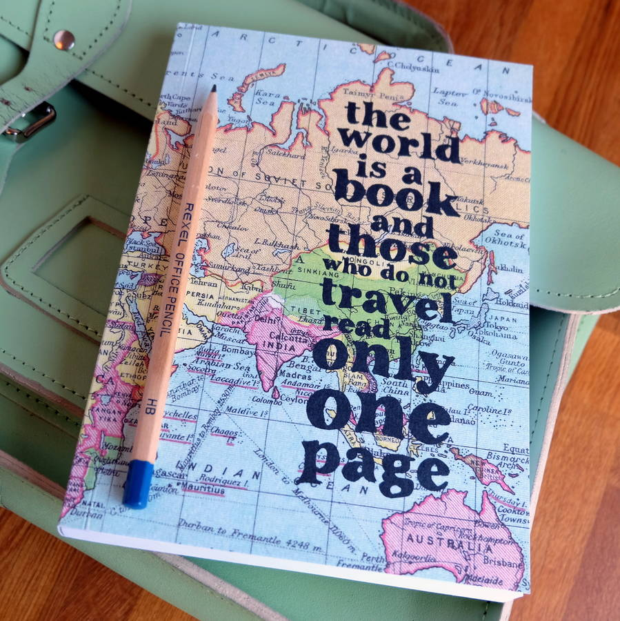 inspirational quote travel journal by bookishly