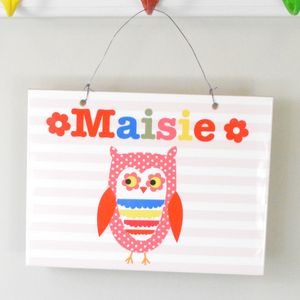 Girls Personalised Ceramic Room Sign - children's room