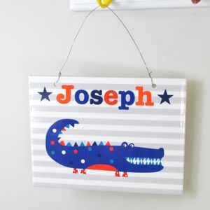 Boys Personalised Ceramic Room Sign