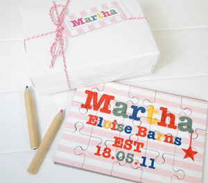 Girls Or Boy's Personalised Birthdate Jigsaw - birthday gifts for children