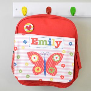Girl's Personalised Butterfly Mini Backpack - personalised