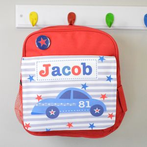 Boy's Personalised Car Mini Rucksack