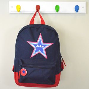 Boy's Personalised Star Backpack - bags, purses & wallets