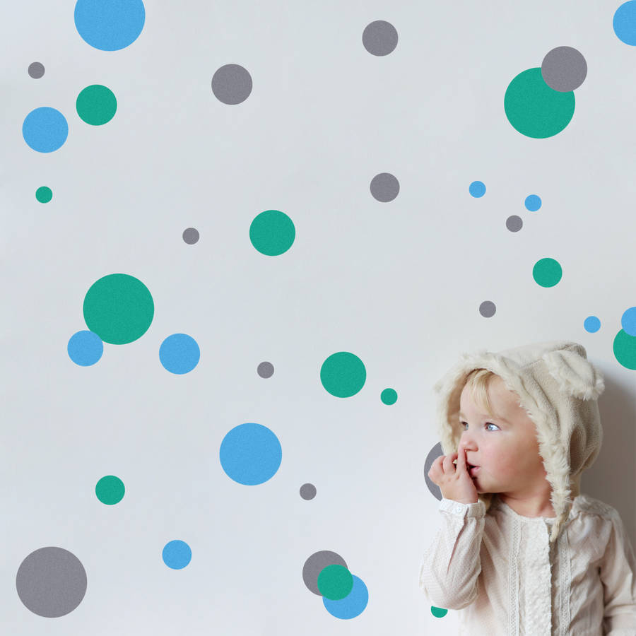 coloured polka dot wall stickers by snuggledust studios polka dot wall stickers by mirrorin notonthehighstreet com