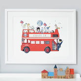 Personalised London Bus Nursery Print - prints & art