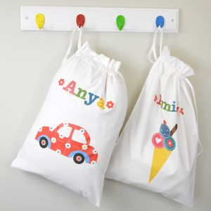 Girls Personalised Travel Laundry Bag - children's room