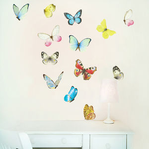 Watercolour Butterfies Wall Stickers - wall stickers