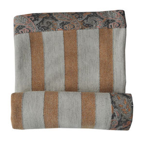 Ochre Stripe Hand Woven Blanket - throws, blankets & fabric
