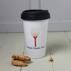 Personalised Golfer's Travel Mug - mugs