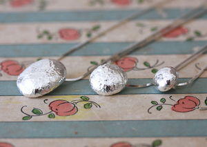 Handmade Silver Pebble Pendants