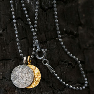 Night And Day Mixed Metal Mens Necklace - gifts by budget
