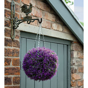 Artificial Topiary Ball / Pink Heather