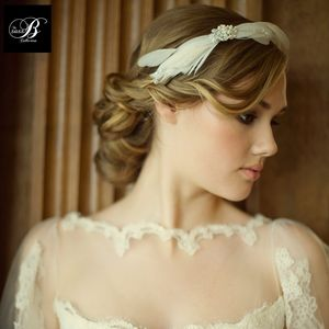 Abigail Feather And Crystal Hair Band - winter sale