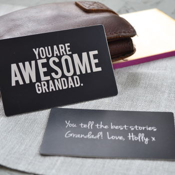 Brilliant Grandad Wallet Insert Card