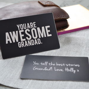 Brilliant Grandad Wallet Insert Card - father's day cards