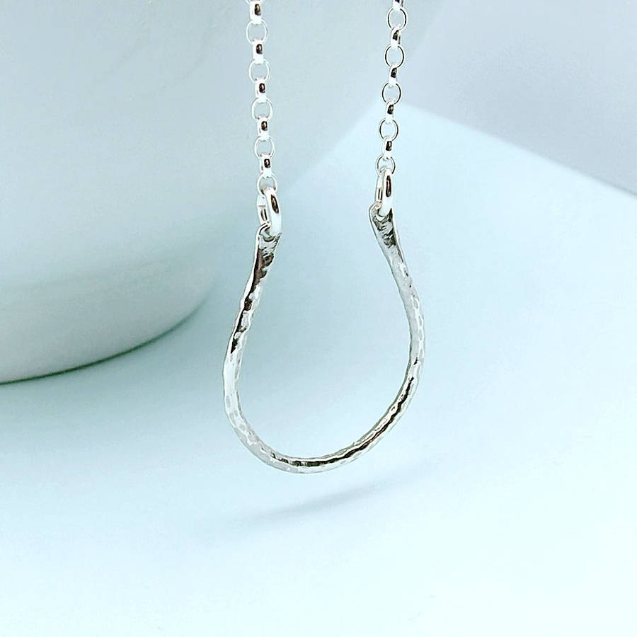 Horseshoe Necklace In Sterling Silver