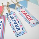 Boy's Personalised Gift Tags Set Of 10