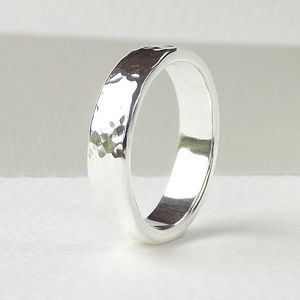 Forged Textured Sterling Silver Ring - rings