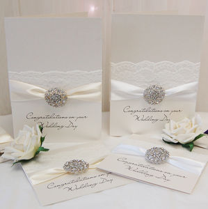 Large Opulence Wedding Congratulations Card