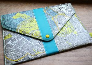 London Map Design Envelope Style Tablet Case - laptop bags & cases