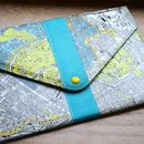 London Map Design Envelope Style Tablet Case