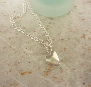 Silver Chunky Heart Necklace