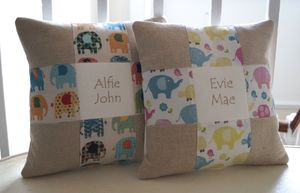 Elephant Name Cushion