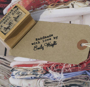 Personalised 'Handmade With Love By' Stamp - craft-lover