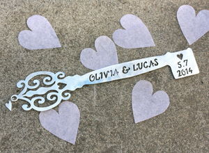 Handmade Silver Celebration Key - keepsakes