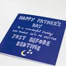 Excited Just Before Bedtime Father's Day Card