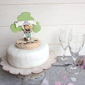 Personalised Scooter Wedding Cake Topper