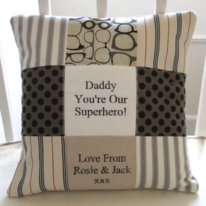 Dad 'Superhero Cushion'