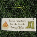 Hen And Wellies Sign