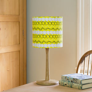 A Handmade Geo Scribble Print Lampshade - table & floor lamps