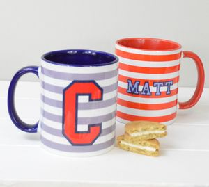 Boys Personalised Initial And Name Mug