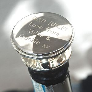 Personalised Silver Wine Bottle Stopper - gifts for the home