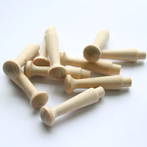 Wooden Pegs Pack Of 10 - hooks, pegs & clips