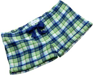 Green And Blue Multi Check Sleep Shorts - lingerie & nightwear