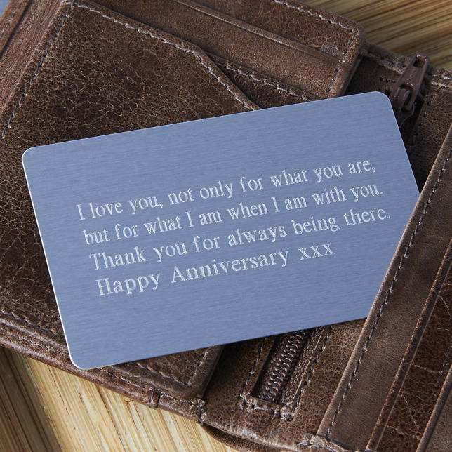 Personalised Keepsake Wallet Insert By Suzy Q Designs