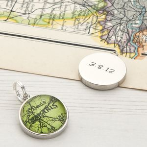 Map Personalised Charm