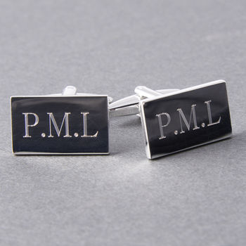 Personalised Silver Plated Engraved Cufflinks
