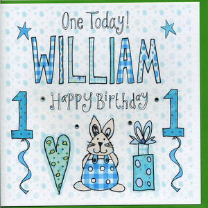 1st Birthday Personalised Boy Card - 1st birthday cards