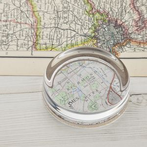 Map Personalised Paperweight - for grandfathers